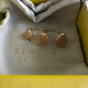 Kendra Scott Rose Gold Drusy Naomi Ring S/M